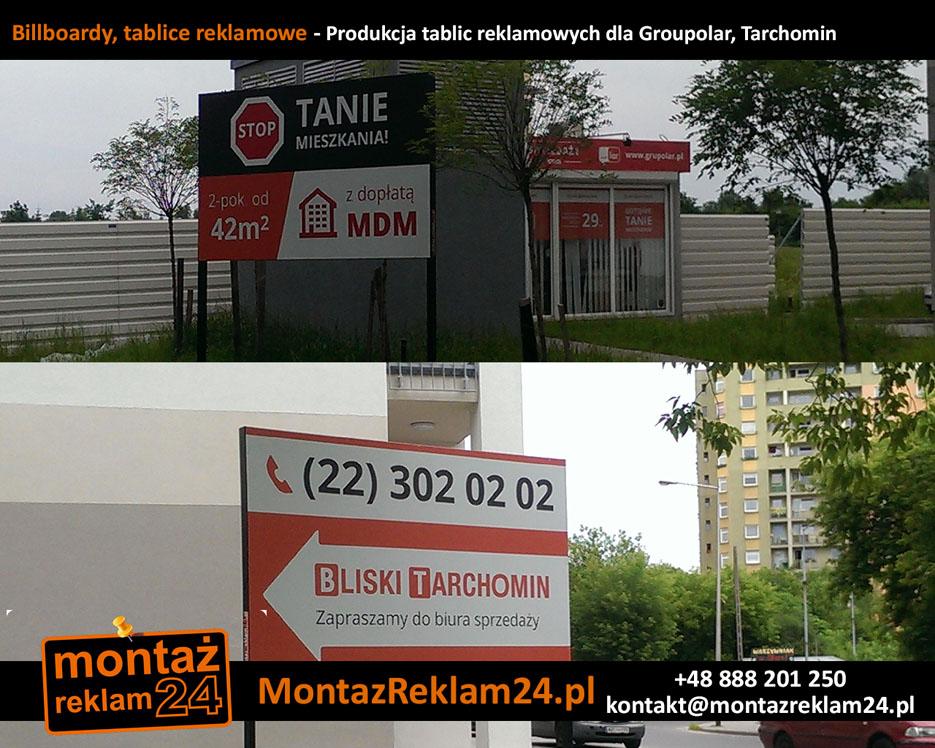 Billboardy, tablice reklamowe - Produkcja tablic reklamowych dla Groupolar, Tarchomin.jpg