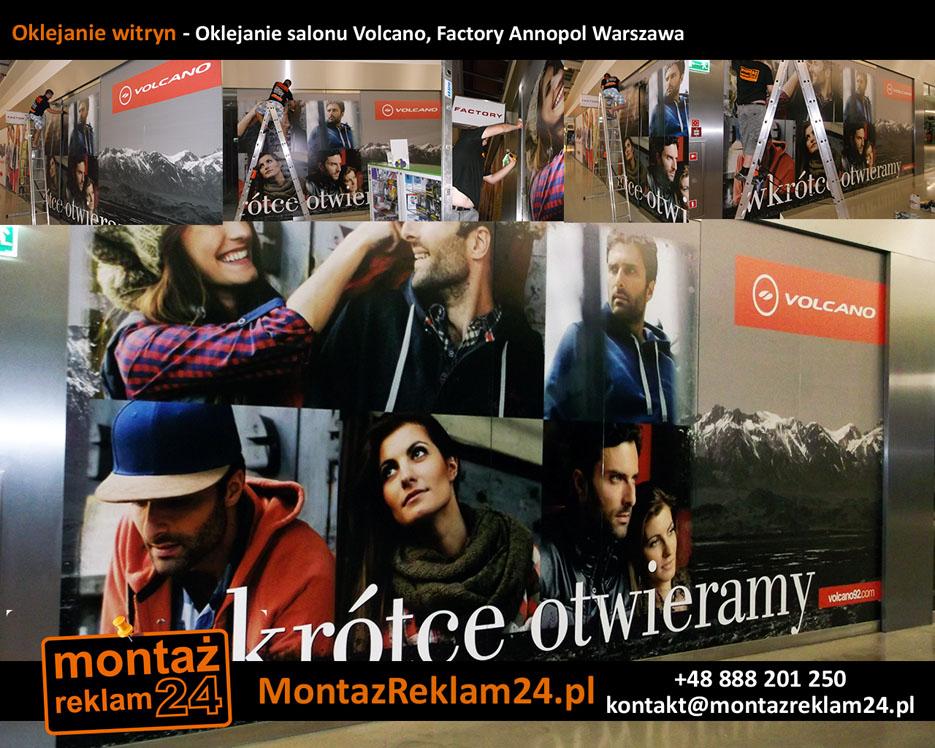 Oklejanie witryn - Oklejanie salonu Volcano, Factory Annopol Warszawa.jpg