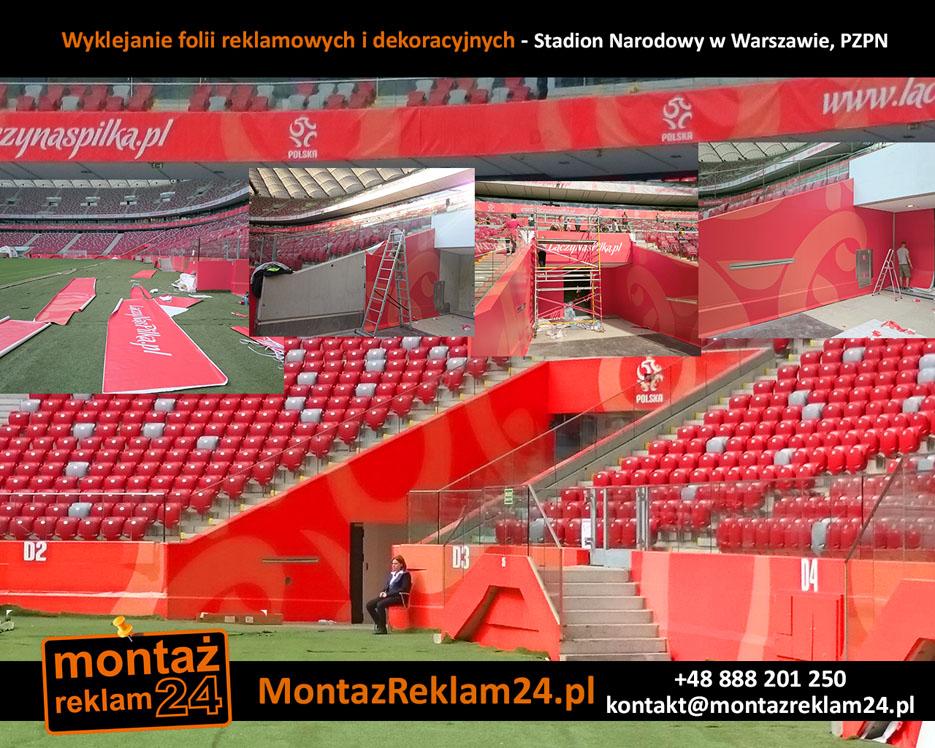 Wyklejanie folii reklamowych i dekoracyjnych - Stadion Narodowy w Warszawie, PZPN.jpg