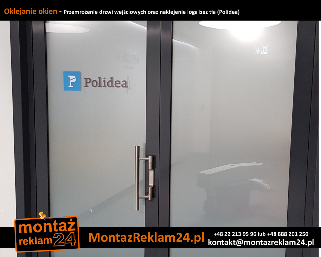 Oklejanie okien - Przemrożenie drzwi wejściowych oraz naklejenie loga bez tła (Polidea).jpg