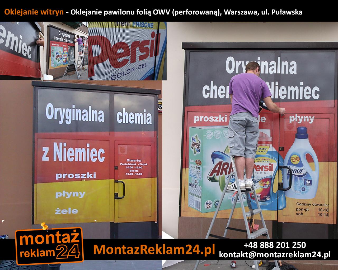 Oklejanie witryn - Oklejanie pawilonu folią OWV (perforowaną), Warszawa, ul — kopia.jpg