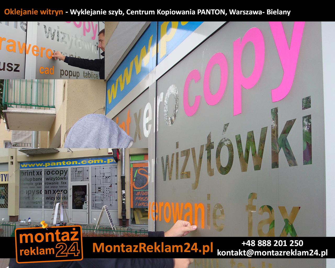 Oklejanie witryn - Wyklejanie szyb, Centrum Kopiowania PANTON, Warszawa- Bielany.jpg