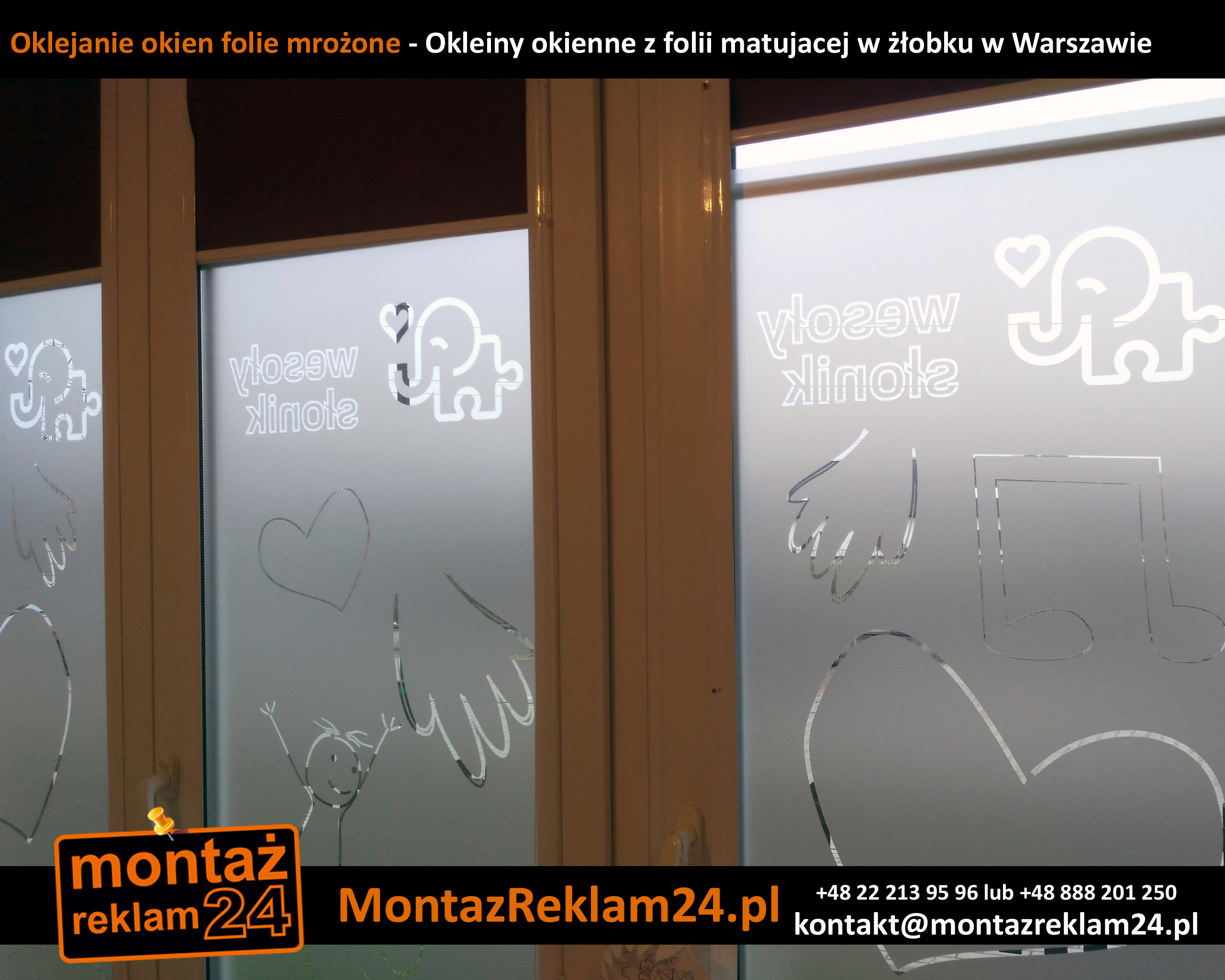 Oklejanie okien folie mrożone - Okleiny okienne z folii matujacej w żłobku w Warszawie.jpg