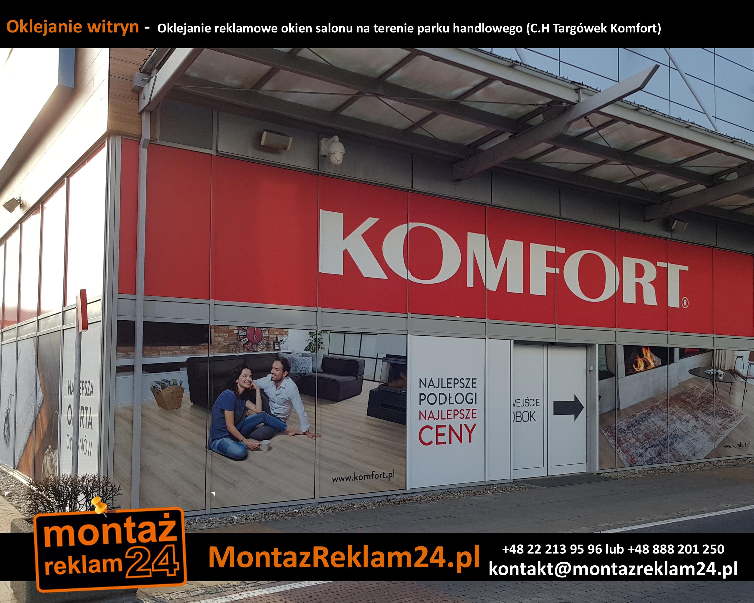 Oklejanie witryn -  Oklejanie reklamowe okien salonu na terenie parku handlowego (C.jpg