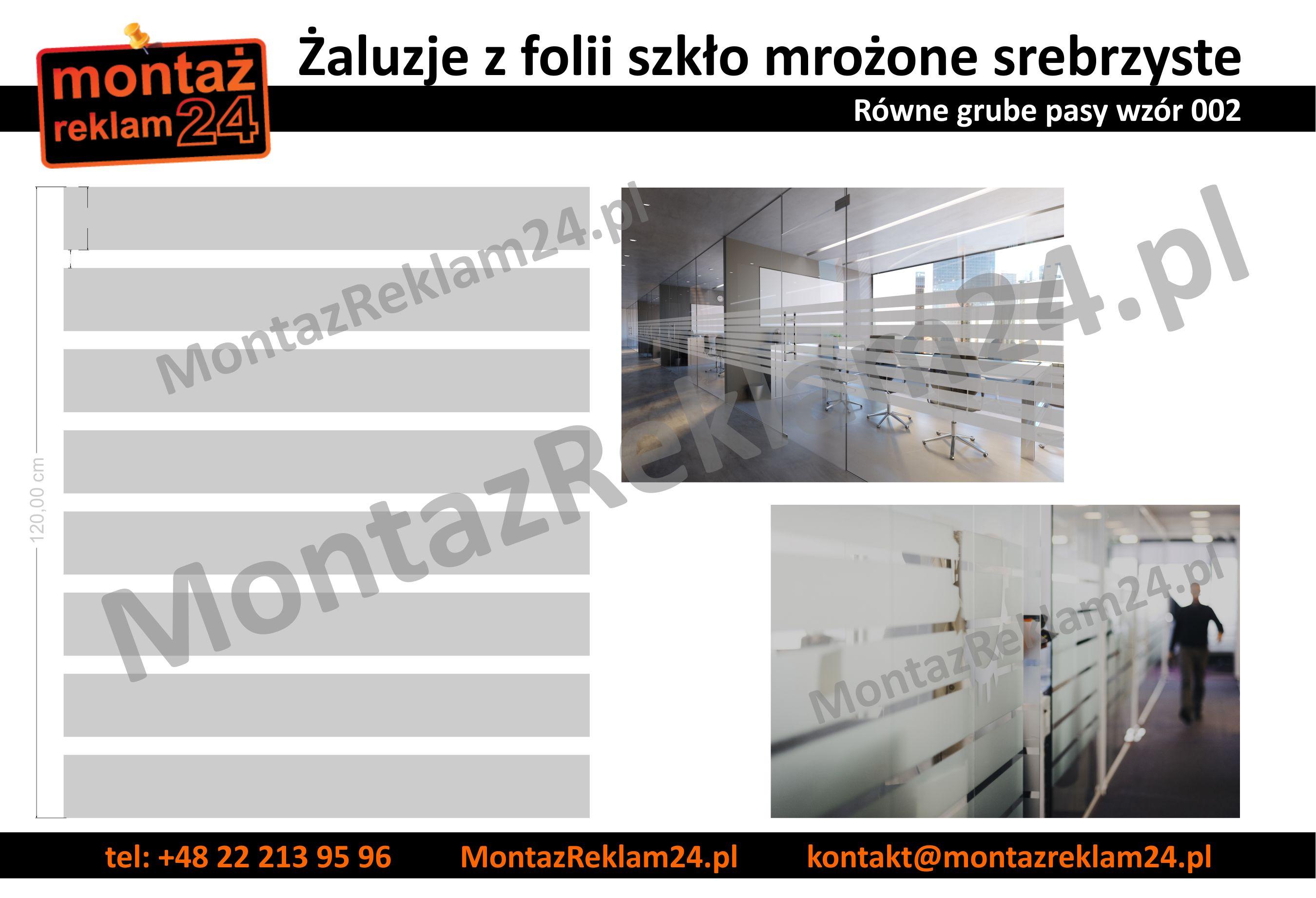 Zaluzje z folii mrozonej grube rowne pasy - wzor002 - MontazReklam24.jpg