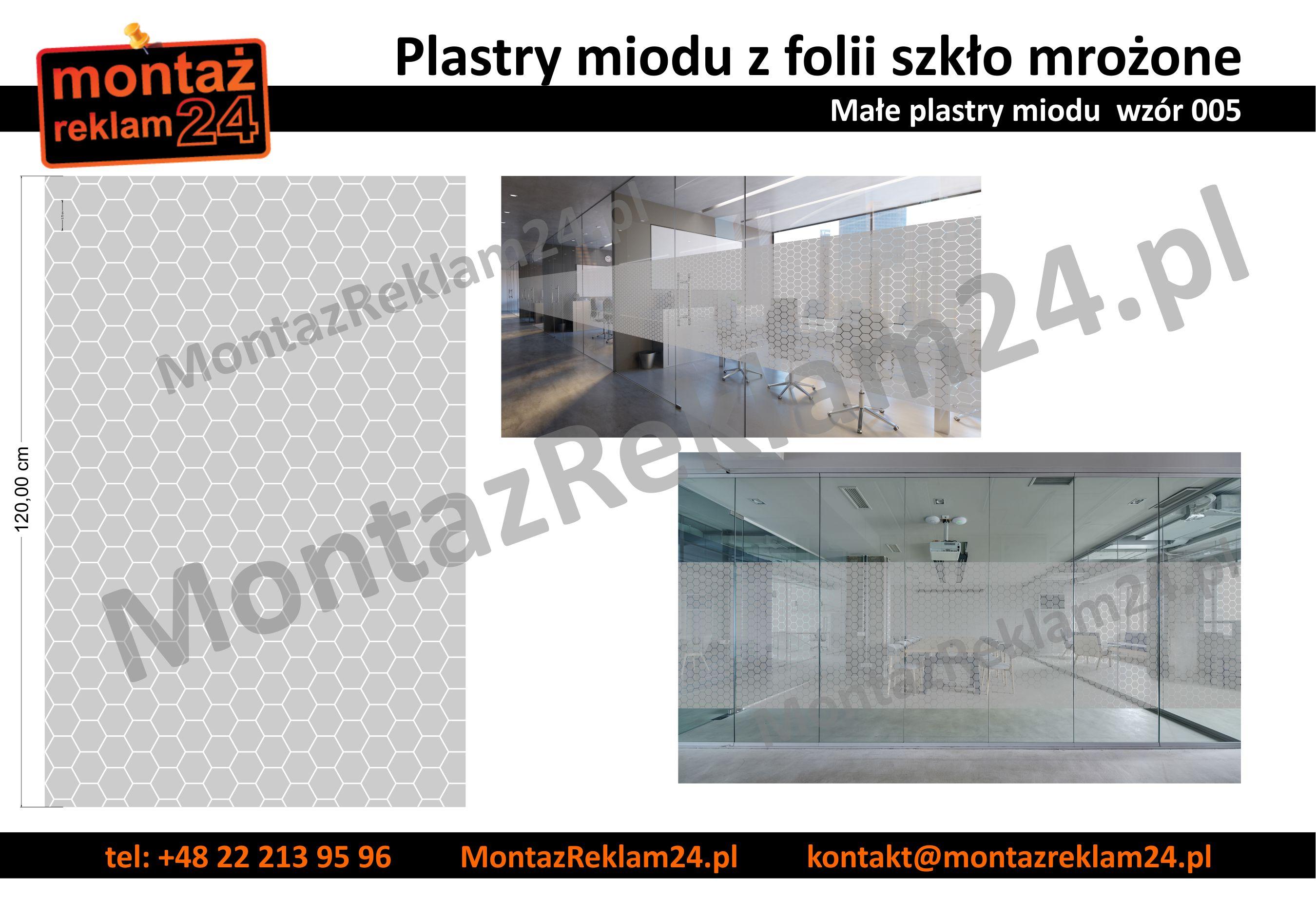 Zaluzje z folii mrozonej male plastry miodu - wzor005 - MontazReklam24.jpg