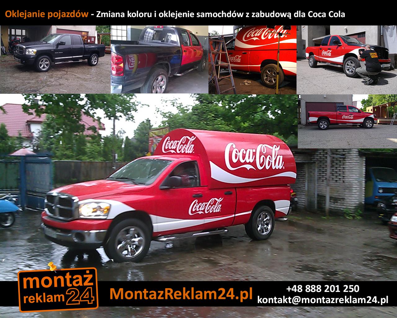Oklejanie pojazdów - Zmiana koloru i oklejenie samochdów z zabudową dla Coca Cola.jpg
