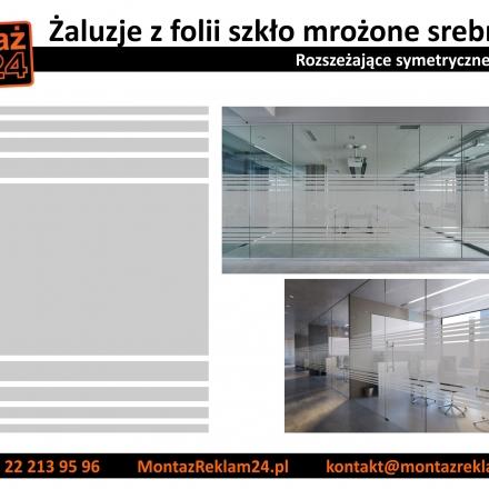 Galeria - Folia szroniona/mrożona/mleczna/matująca - Propozycja gotowych wzorów taśm z folii matowej do oklejania przeszkleń biurach i sklepach