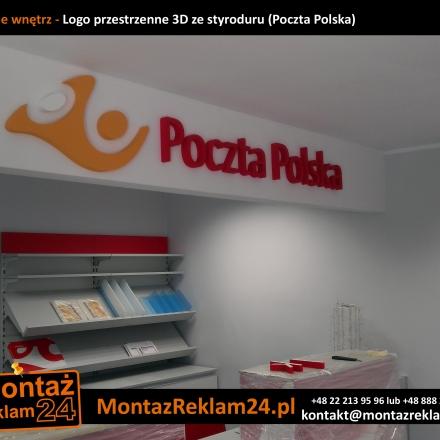Galeria - Loga i napisy przestrzenne ze styroduru z licem z plexi - Produkcja i montaż Warszawa